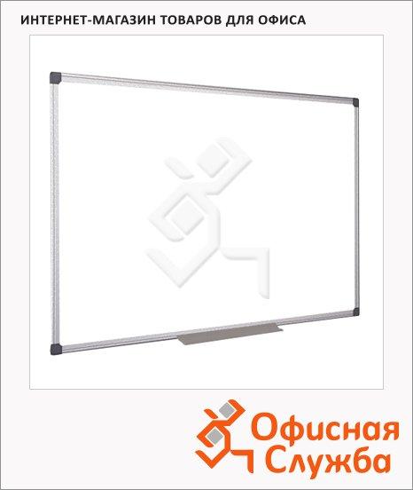 фото: Доска магнитная маркерная Bi-Office CR0801170 60х90см белая, эмалевая, алюминиевая рама, полочка