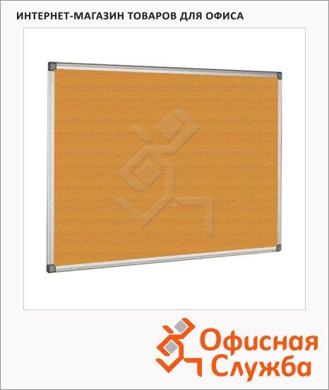 фото: Доска пробковая Bi-Office СА151170 90х120см коричневая, алюминиевая рама