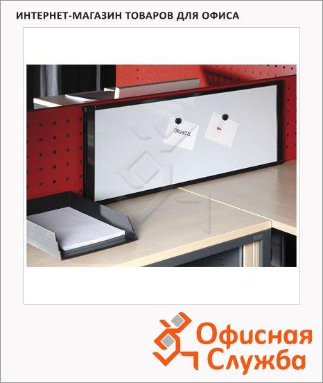 фото: Доска магнитная маркерная MA16007705 35х90см лаковая, белая, алюминиевая рама