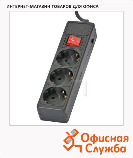 Сетевой фильтр Sven Optima Base 3 розетки, черный, 1.8м