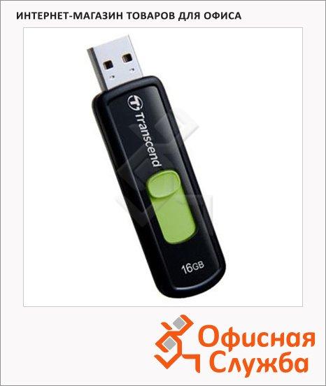 Флеш-накопитель Transcend JetFlash 500 16Gb, 15/7 мб/с, черно-зеленый