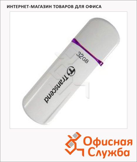 Флеш-накопитель Transcend JetFlash 330 32Gb, 16/6 мб/с, бело-фиолетовый