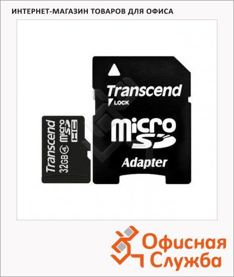 фото: Карта памяти Transcend micro SDHC 4мб/с, 32Gb, без адаптера SD