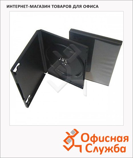 Бокс для CD/DVD Vs DVD-box черный, на 1 диск, 5 шт/уп