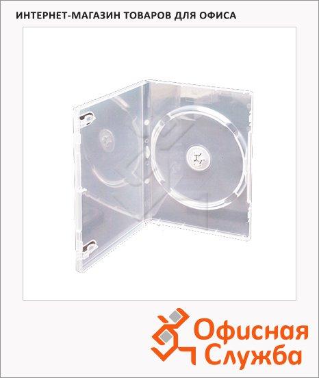 Бокс для CD/DVD Vs DVD-box прозрачный, на 1 диск, 5 шт/уп
