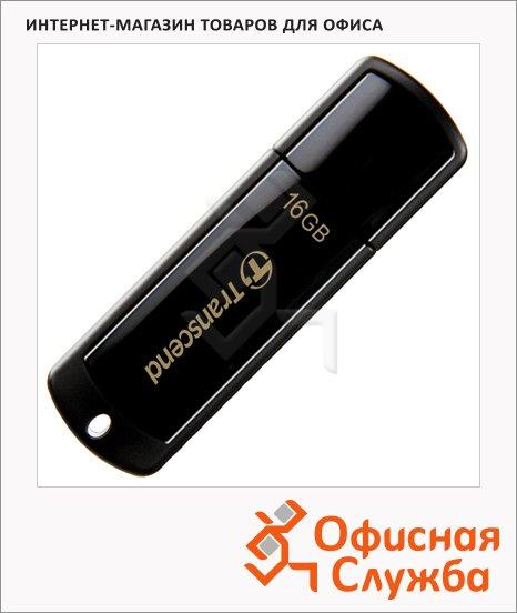 Флеш-накопитель Transcend JetFlash 350 16Gb, 15/11 мб/с, черный