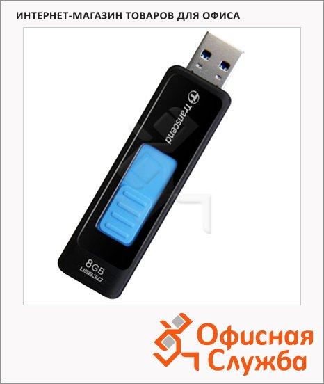 фото: Флеш-накопитель Transcend JetFlash 760 8Gb 55/5 мб/с, черно-голубой