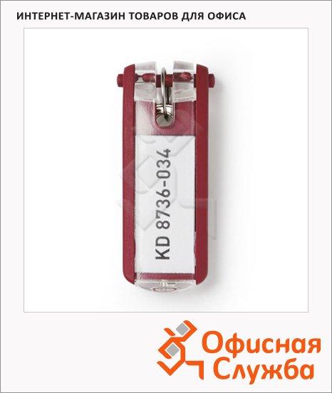 Бирка для ключей Durable красная, 6шт, 1957-03
