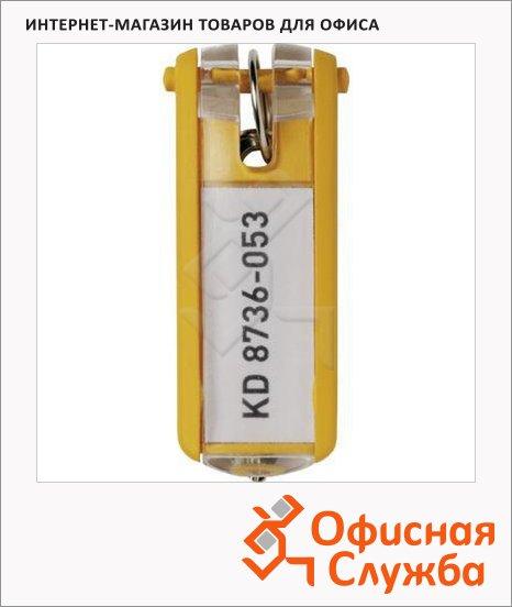 Бирка для ключей Durable желтая, 6шт, 1957-04