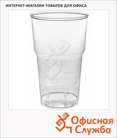 Стакан одноразовый Комус 500мл, пластиковый прозрачный, 24шт/уп