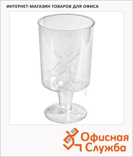 Бокал одноразовый для вина Кристалл прозрачный, 170мл, 6шт/уп