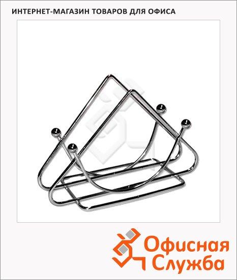 Салфетница Треугольник 9 х 13 х 5.5см, металлик