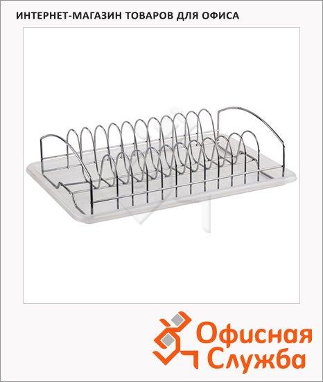 Сушилка для посуды с поддоном, нержавеющая сталь