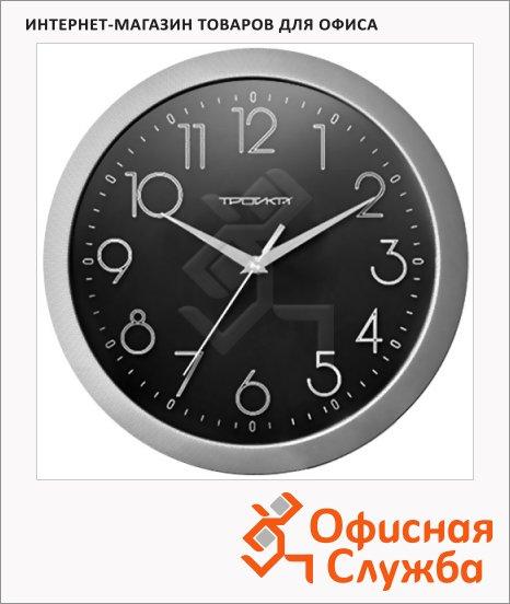 фото: Часы настенные Troyka черные d=29см, круглые, 11170182