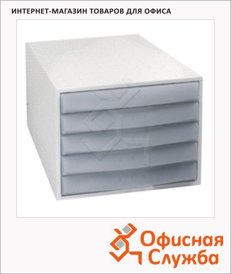 фото: Бокс для бумаг Exacompta 387х284х218мм 5 ящиков, серый, 222054D