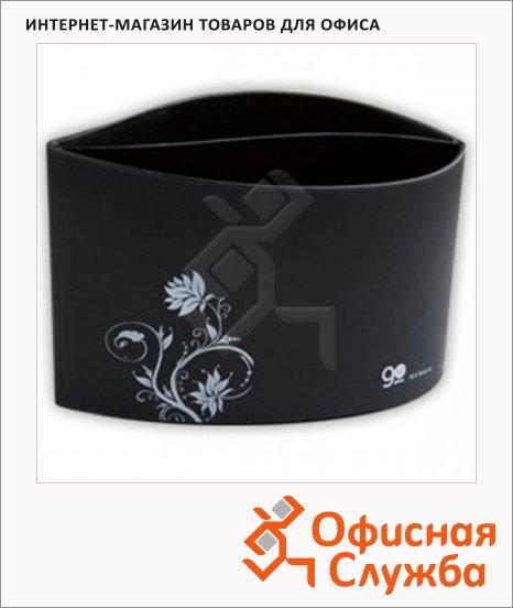 Органайзер настольный Go Green 2 секции, 138x74x94мм, черный, APT002