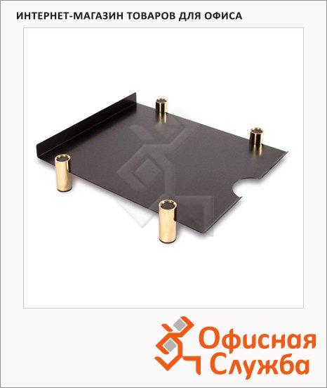 фото: Лоток горизонтальный для бумаг Black&Gold А4 черно-золотой, 75517