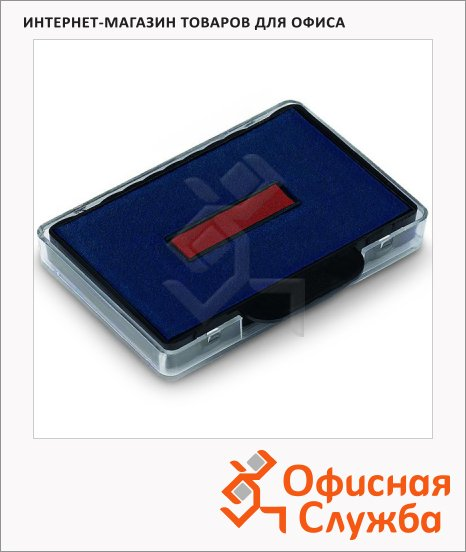 фото: Сменная подушка прямоугольная Colop для Trodat 5465/5460 синяя-красная, E/4460/2