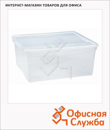 фото: Ящик для хранения с крышкой 18л 40х33.5х17см