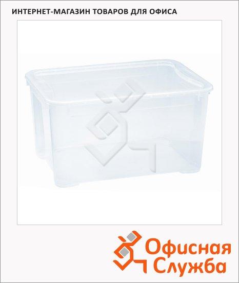 фото: Ящик для хранения с крышкой 60л 55.5х39х29см