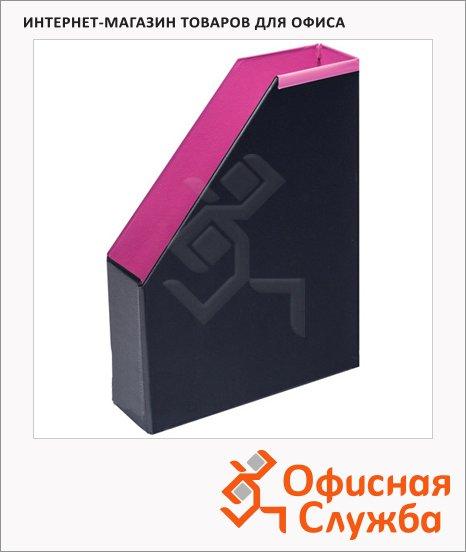 Накопитель вертикальный для бумаг Bantex А4, 70мм, фуксия