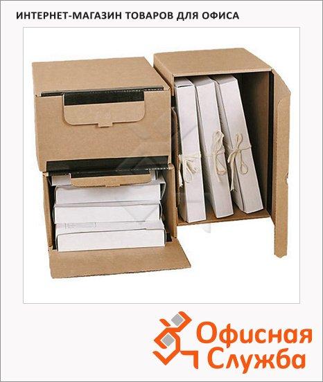 Архивный короб Промтара Офис Стандарт бежевый, 380х280х170 мм, 341