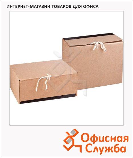 Архивный короб Офис Стандарт бежевый, 280х170х380 мм, 357