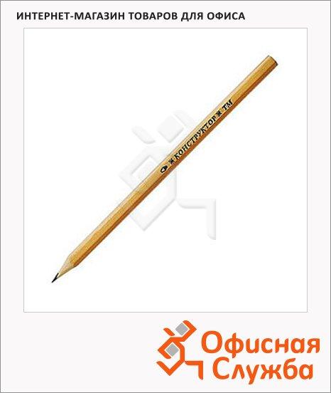 Карандаш чернографитовый Сибирская Карандашная Фабрика 2Н
