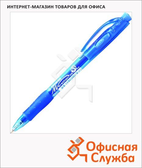 Ручка шариковая автоматическая Stabilo Marathon синяя, 0.3мм, синий корпус