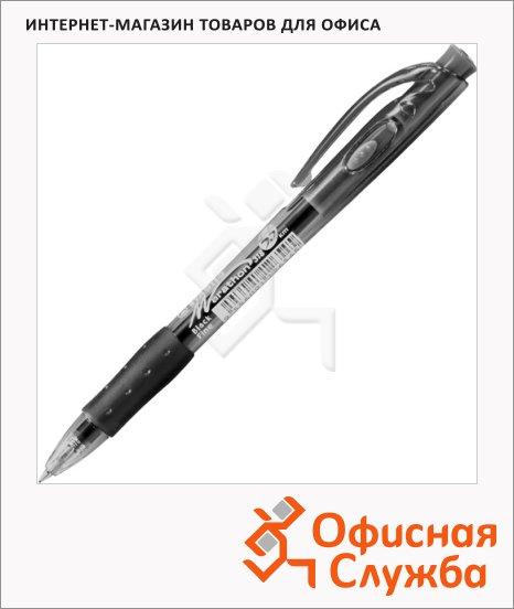 фото: Ручка шариковая автоматическая Stabilo Marathon 318 черная 0.3мм, черный корпус