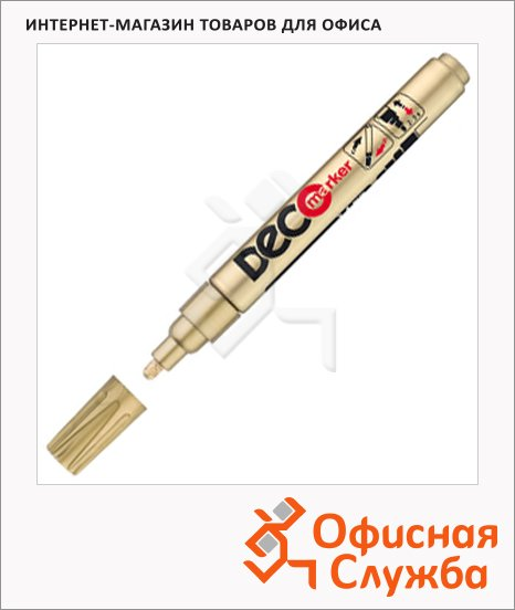 Маркер лаковый Ico Deco золотой, 2-4мм, круглый наконечник
