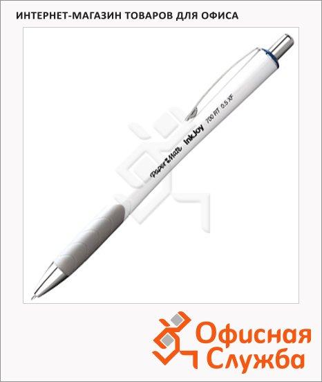 Ручка шариковая автоматическая Paper Mate InkJoy синяя, 0.5мм, белый/серый корпус