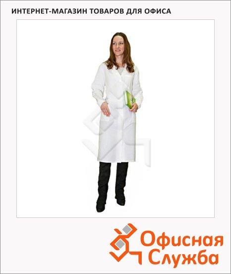 фото: Халат рабочий женский белый (р.48-50) 170-176 хлопок