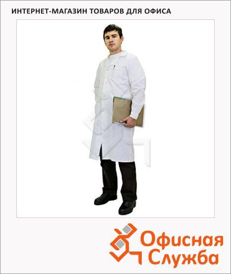 фото: Халат рабочий мужской белый (р.60-62) 170-176 хлопок
