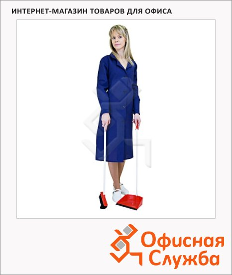 фото: Халат рабочий женский синий (р.52-54) 158-164 хлопок