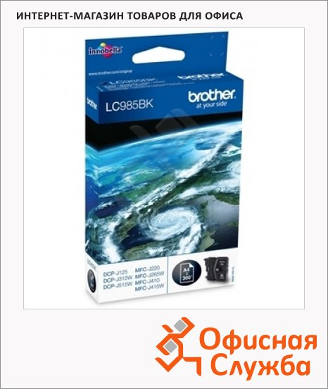 Тонер-картридж Brother LC-985BK, черный