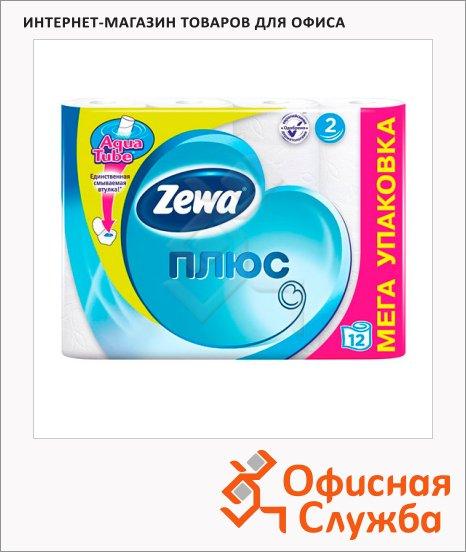 фото: Туалетная бумага Zewa Плюс без аромата 2 слоя, 12 рулонов, 184 листа, 23м, белая