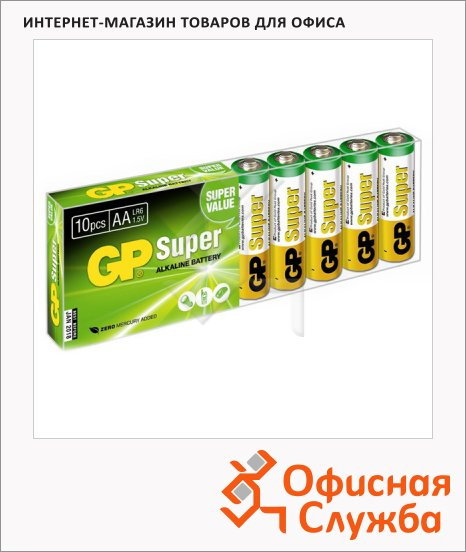 ��������� Gp Super AA/LR6, 1.5�, �����������, 10��/��