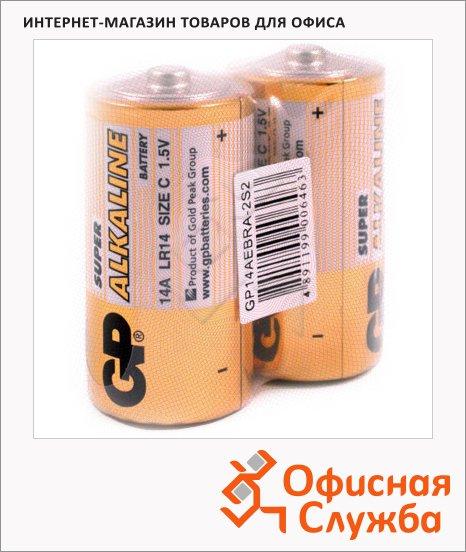 Батарейка Gp Super C/LR14, 1.5В, алкалиновые, 2шт/уп