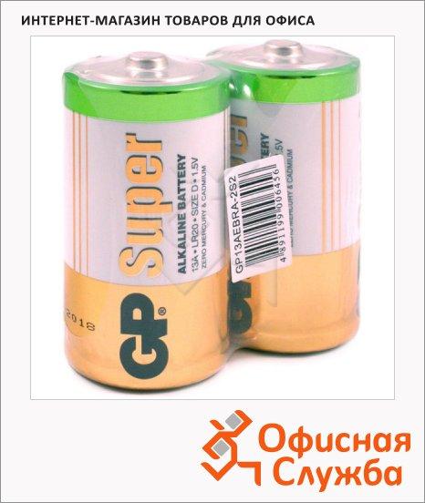 Батарейка Gp Super D/LR20/13A, 1.5В, алкалиновые, 2шт/уп