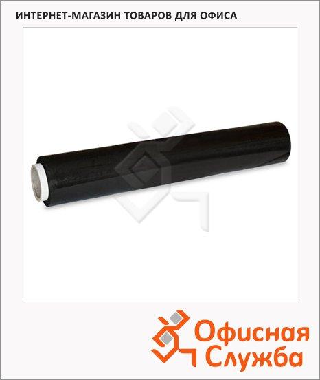 Стрейч-пленка для ручной упаковки 50смх300м, 23мкм, растяжение 180%, черная
