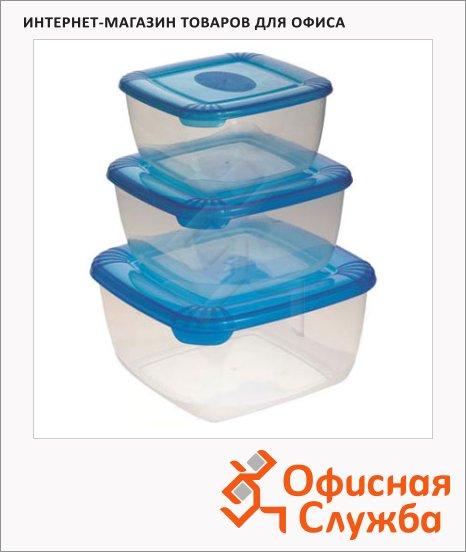фото: Набор контейнеров Polar 2.5л+1л+0.5л пластик, с плотно прилегающей крышкой, 3шт/уп