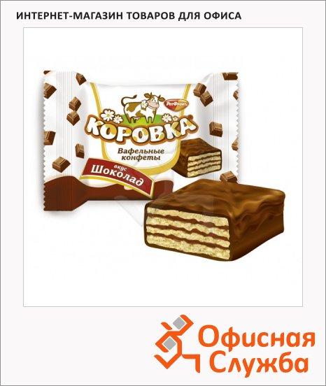 фото: Конфеты Рот Фронт Коровка вафельная в шоколадной глазури 250г