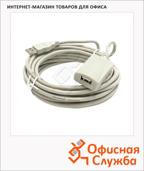 Кабель удлинительный USB 2.0 Defender A-A (m-f) 4.8 м, белый, USL111
