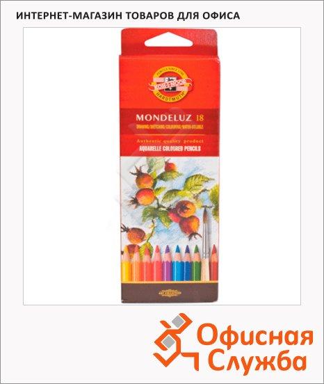 Набор акварельных карандашей Koh-I-Noor Mondeluz 18 цветов, 3717/18