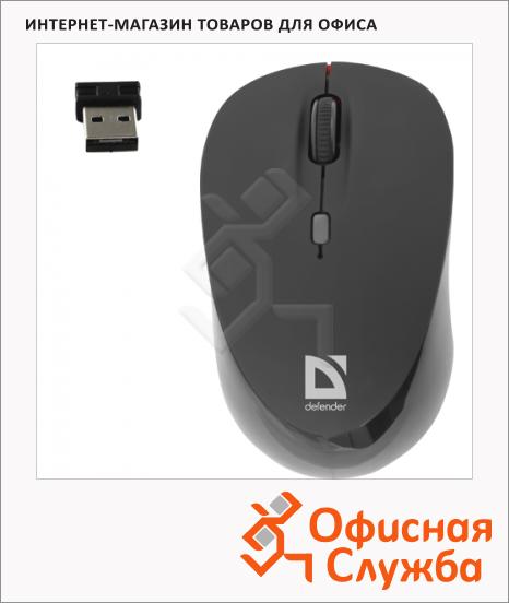 Мышь беспроводная лазерная USB Defender Dacota MS-155, 1000-2000dpi, красно-черная