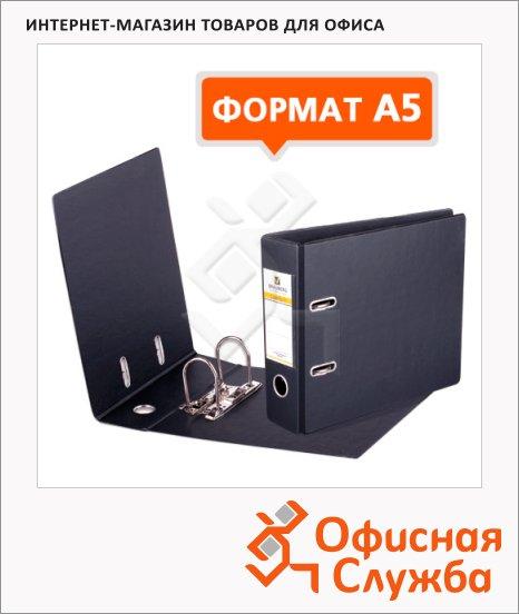 Папка-регистратор А5 Brauberg Comfort черная, 70 мм, 223190