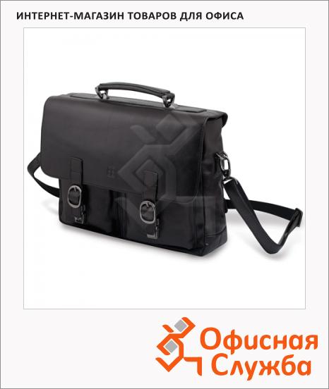 Портфель Sergio Belotti 280х360х130мм, черный, натуральная кожа