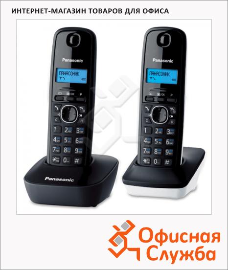 Радиотелефон Panasonic KX-TG1612RU1 серый/белый, 2 трубки
