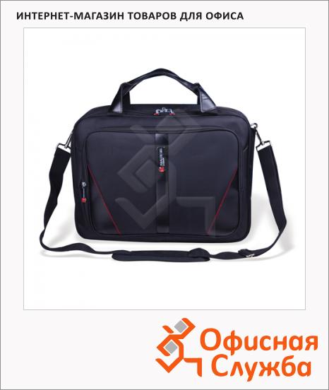 """Сумка для ноутбука Brauberg Business 15.6"""", 320х410х150мм, черная"""